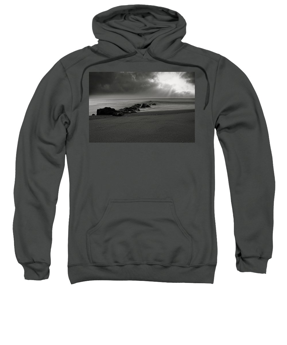 Jersey Shore Sweatshirt featuring the photograph The Rain by Todd Dunham
