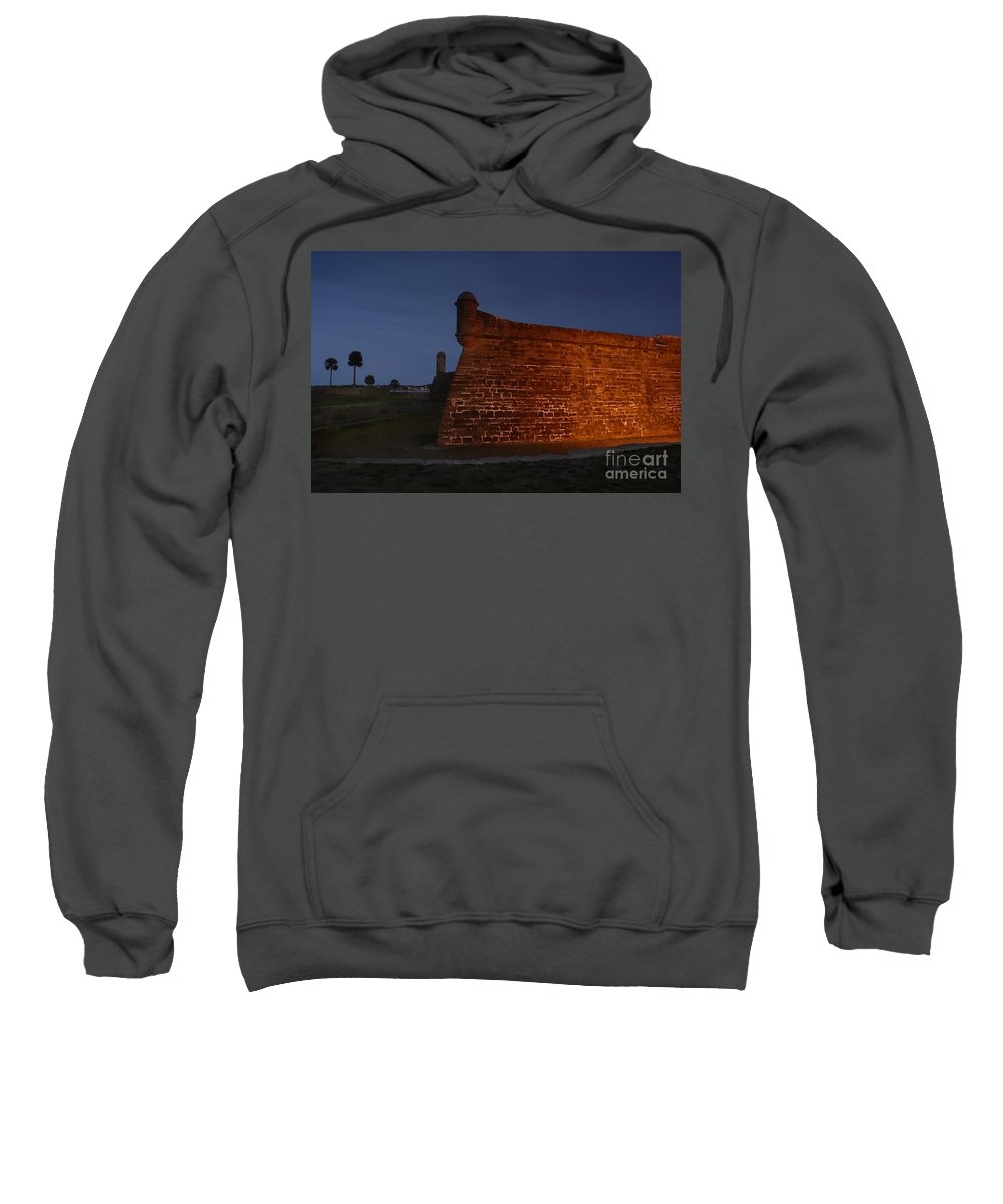 Castillo Sweatshirt featuring the photograph The Red Castillo by David Lee Thompson