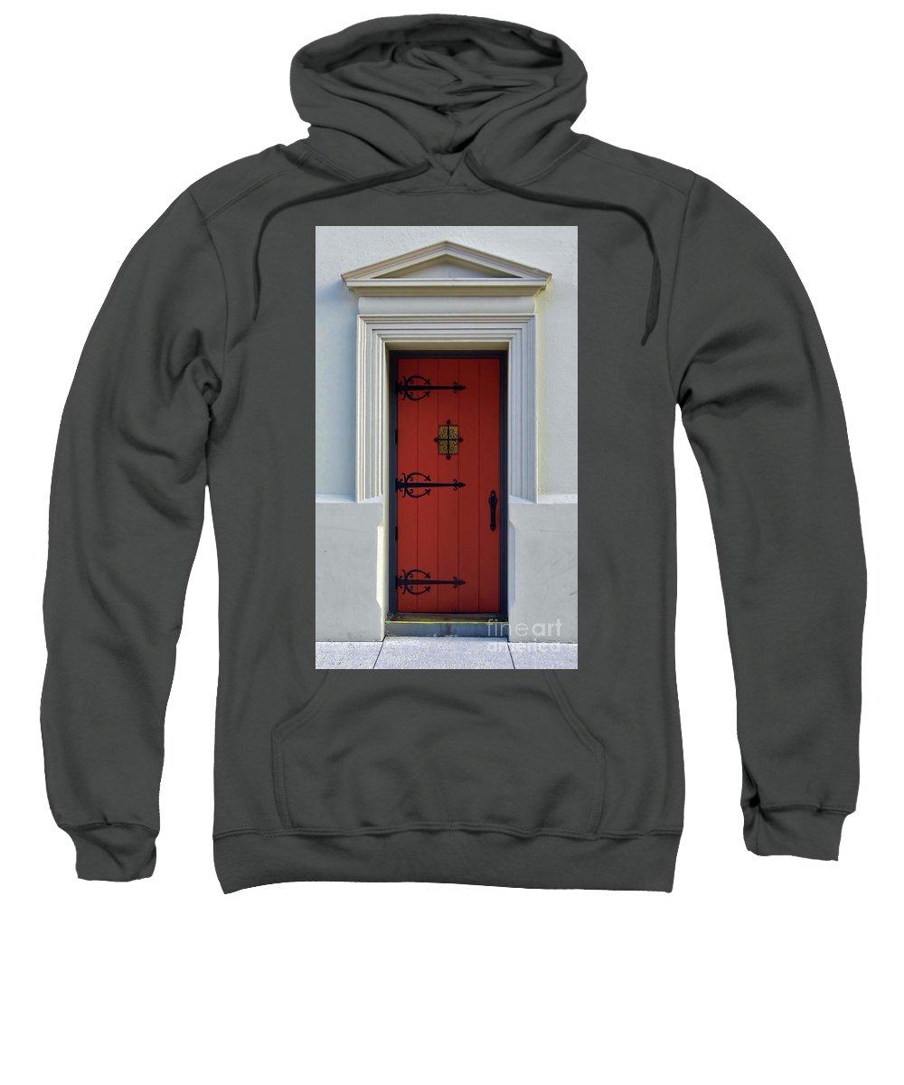 Door Sweatshirt featuring the photograph The Red Door by D Hackett