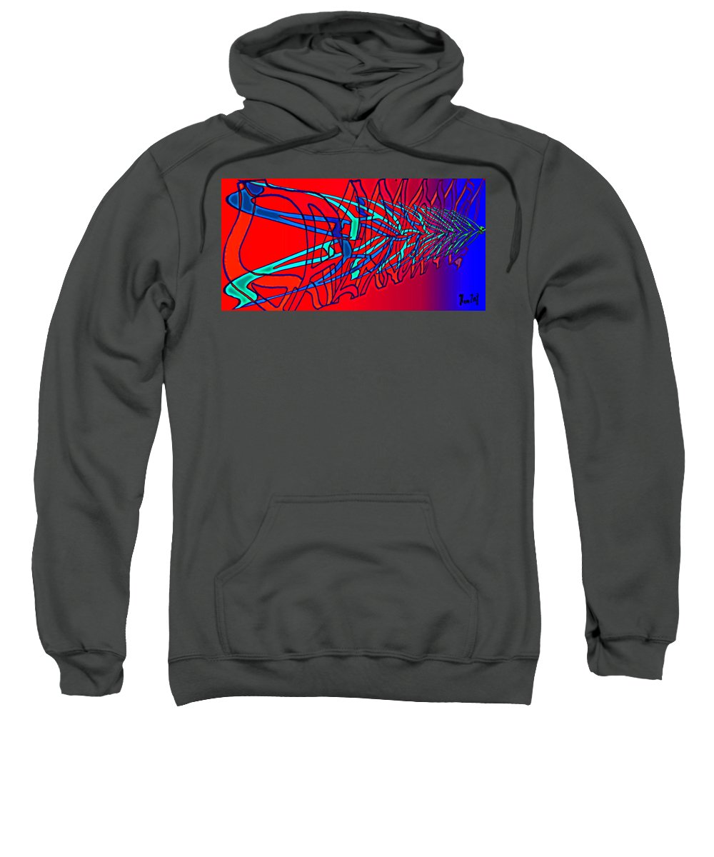 C2 Sweatshirt featuring the digital art The risc of alcohol by Helmut Rottler