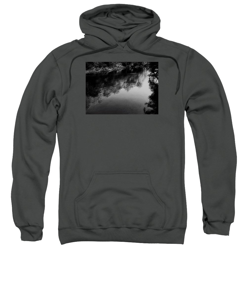River Sweatshirt featuring the photograph The River In Black And White by Dawn Mullis