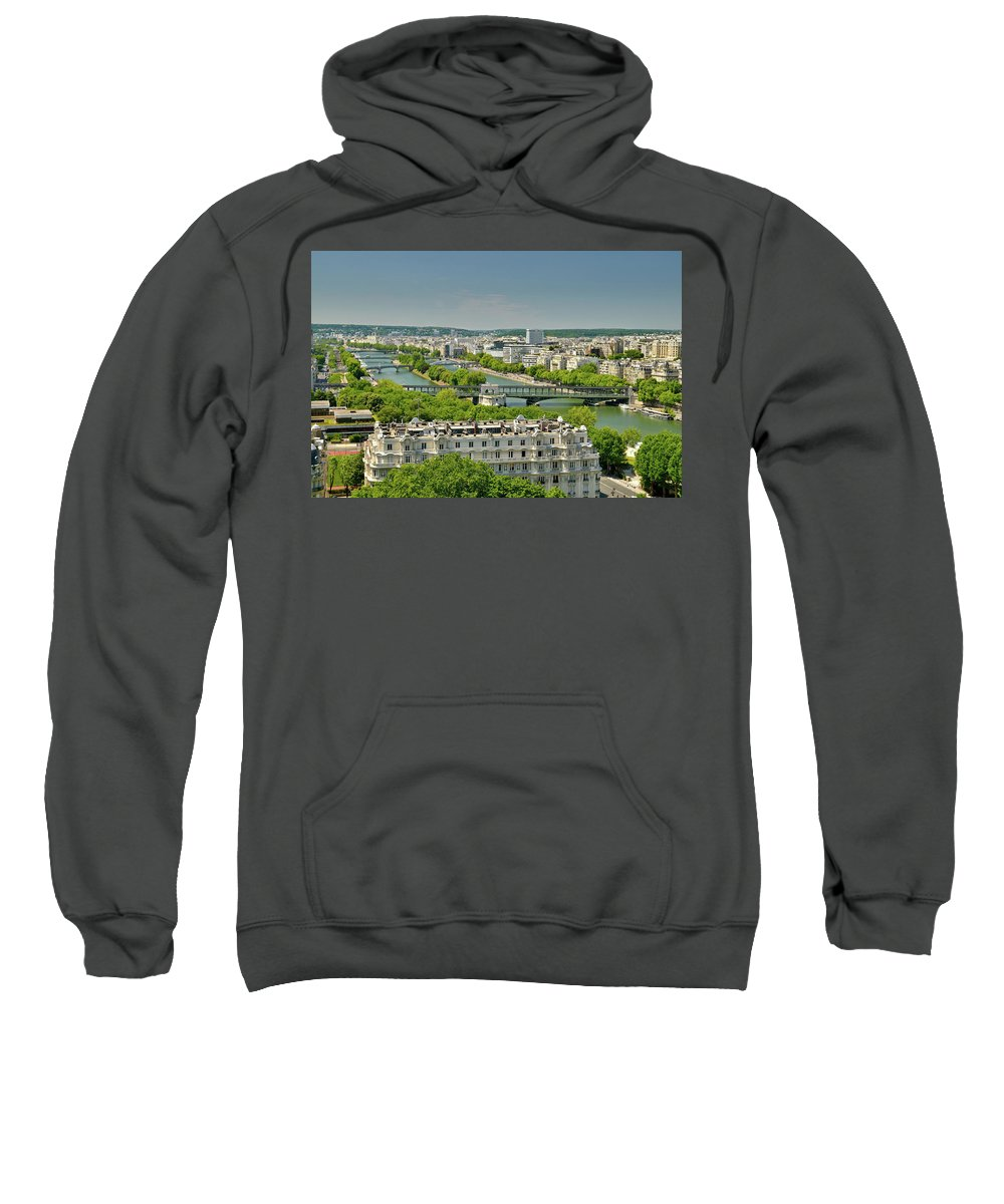 French Sweatshirt featuring the photograph The River Of Paris by Scott Hippensteel