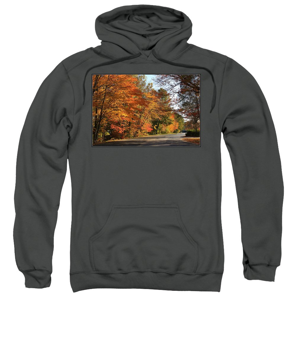 Outside Sweatshirt featuring the photograph The Road Less Traveled by Dora Sofia Caputo Photographic Design and Fine Art