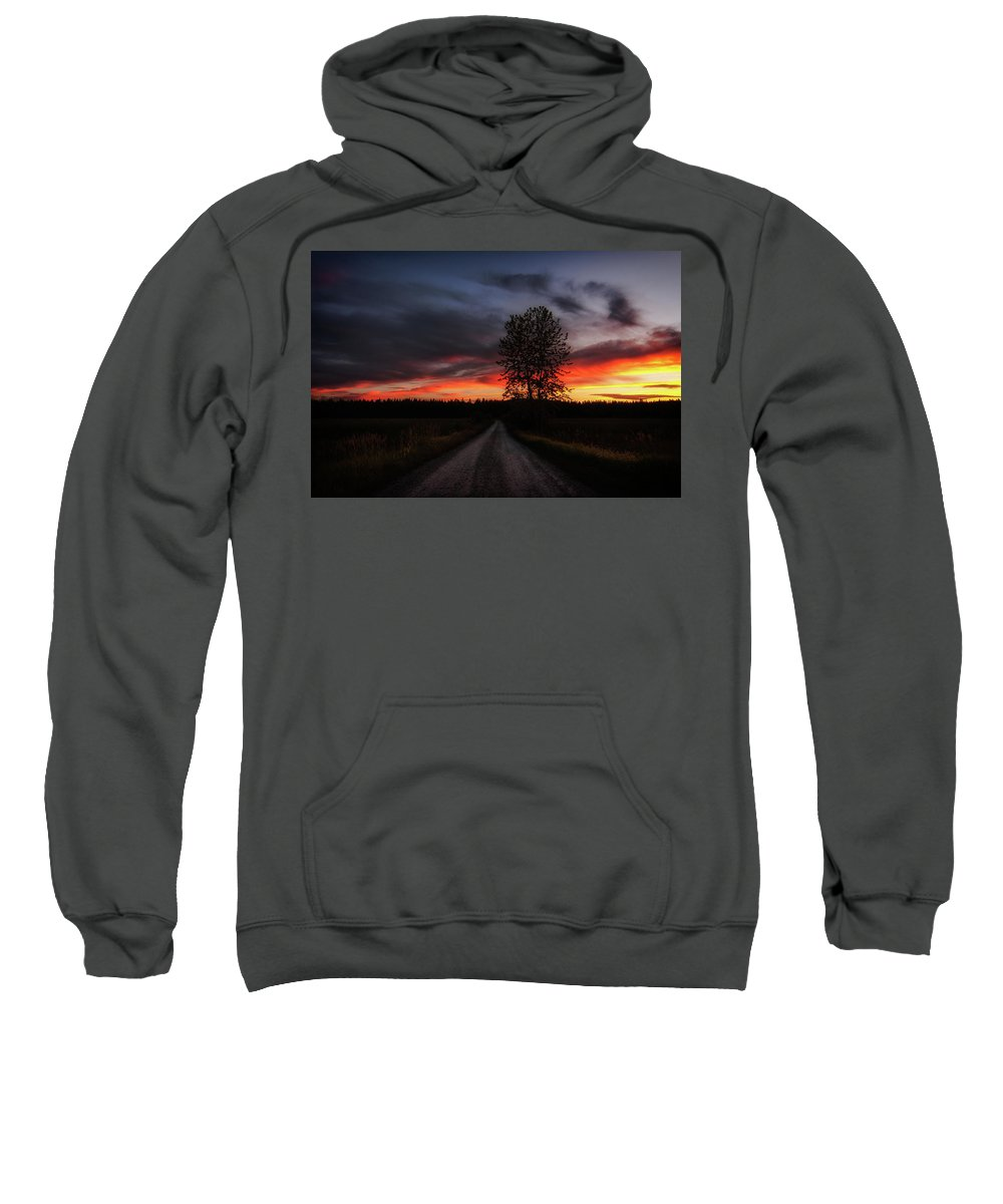 Landscape Sweatshirt featuring the photograph The Roads We Travel by Alan Anderson