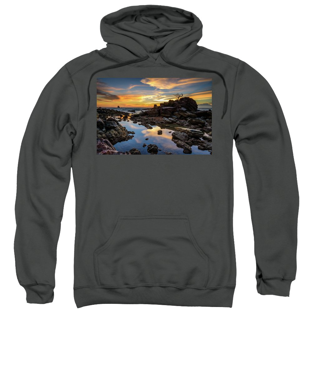Abstract Sweatshirt featuring the photograph The Rock Bonsai During Sunset by Erwin Ussdek