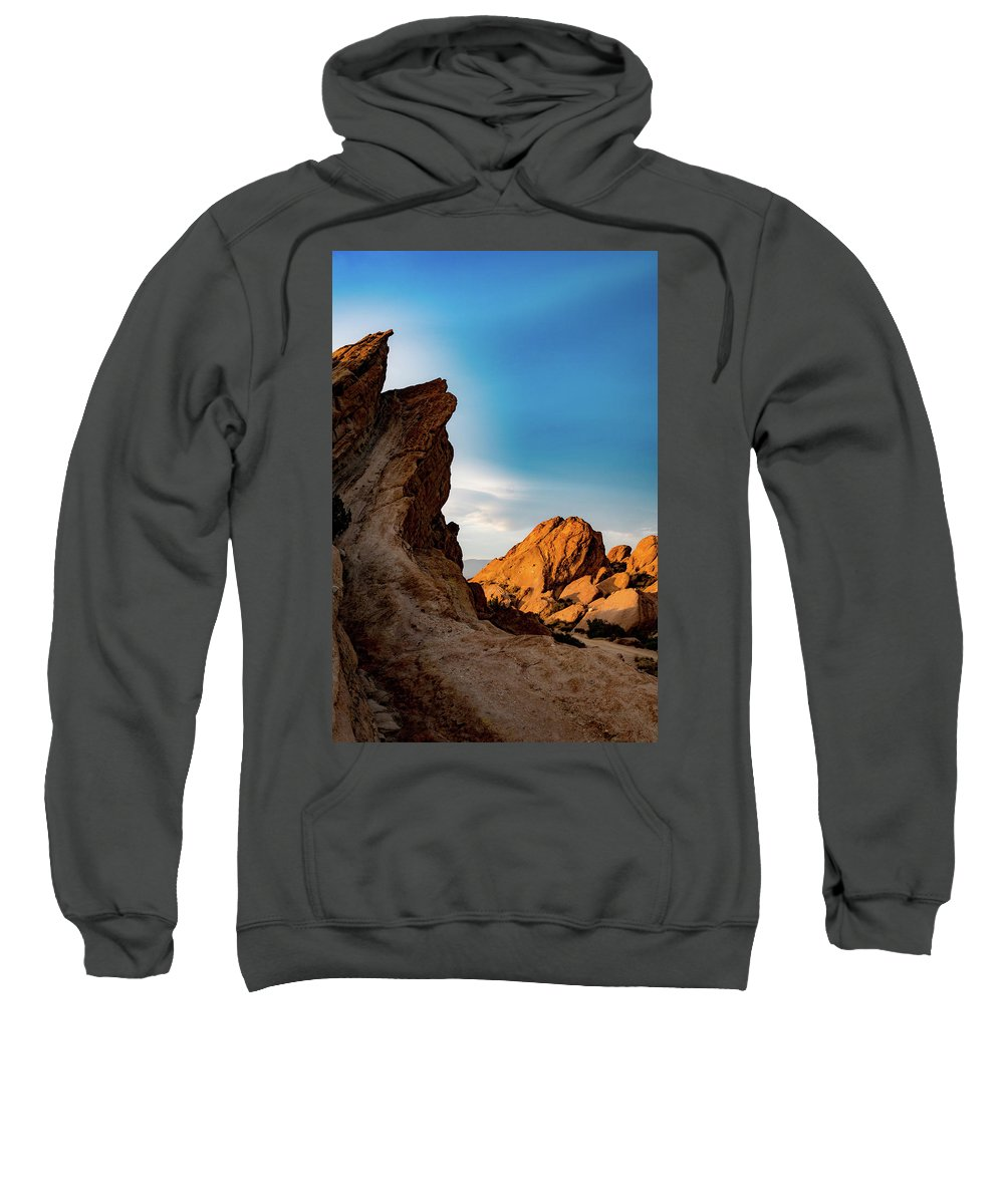 Rocks Sweatshirt featuring the photograph The Rocks Of Vasquez by Michael Hope