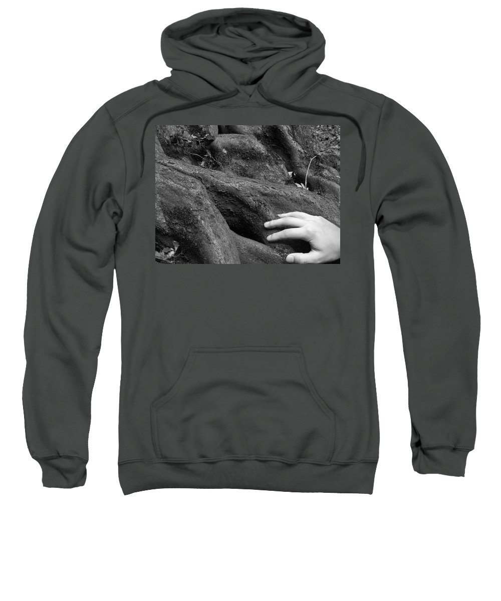 Nature Sweatshirt featuring the photograph The Roots by Daniel Csoka
