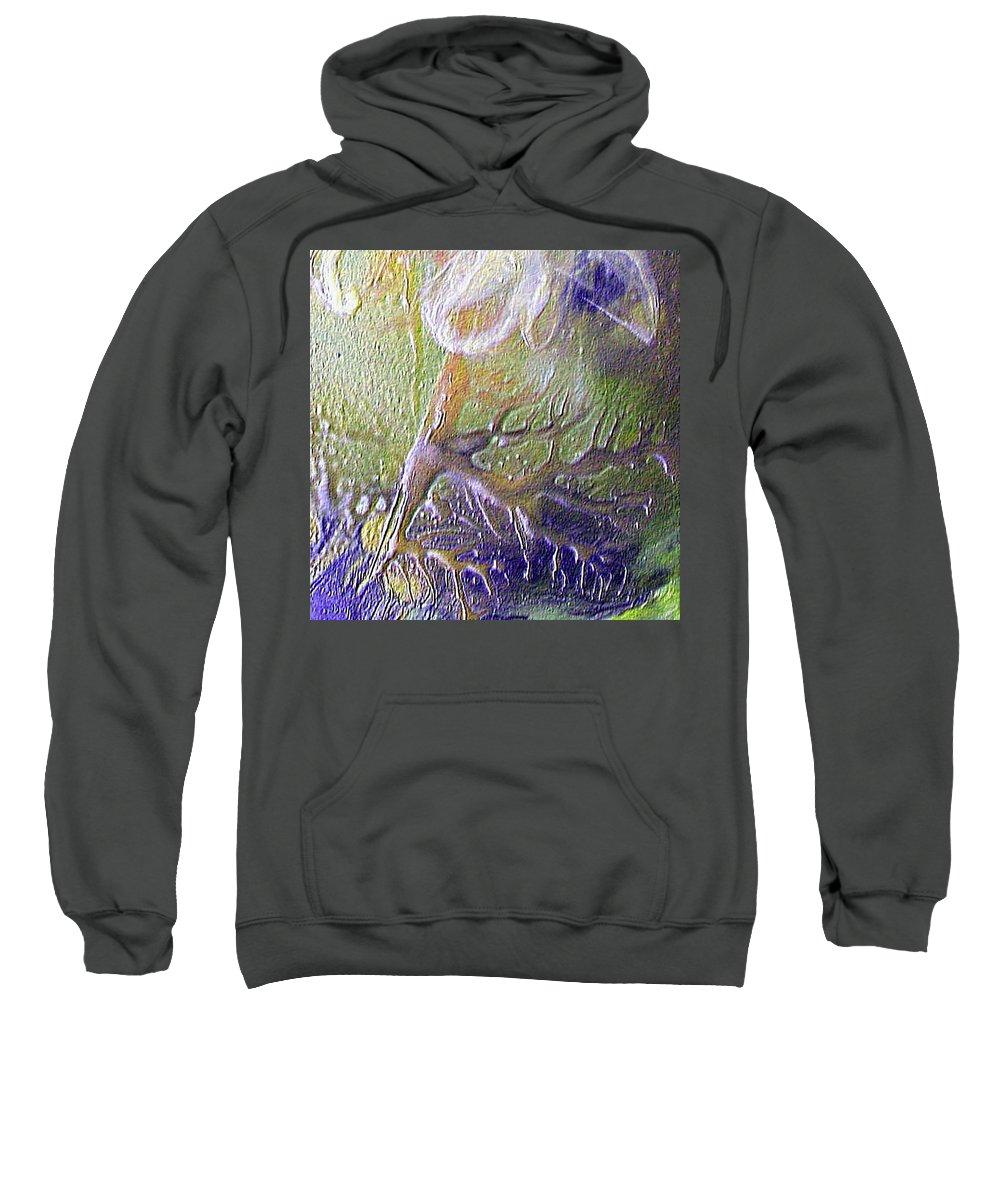 Roots Sweatshirt featuring the painting The Roots by Dragica Micki Fortuna