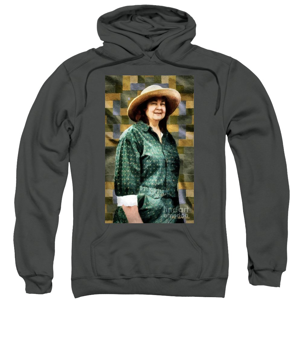 Artisan Sweatshirt featuring the painting The Rugmaker by RC DeWinter