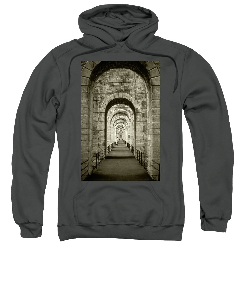 Running Sweatshirt featuring the photograph The Runner by Steve Williams
