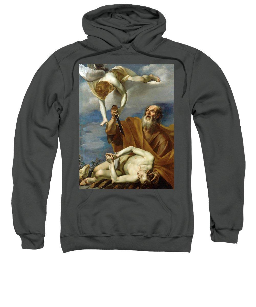 Orazio Riminaldi Sweatshirt featuring the painting The Sacrifice Of Isaac by Orazio Riminaldi