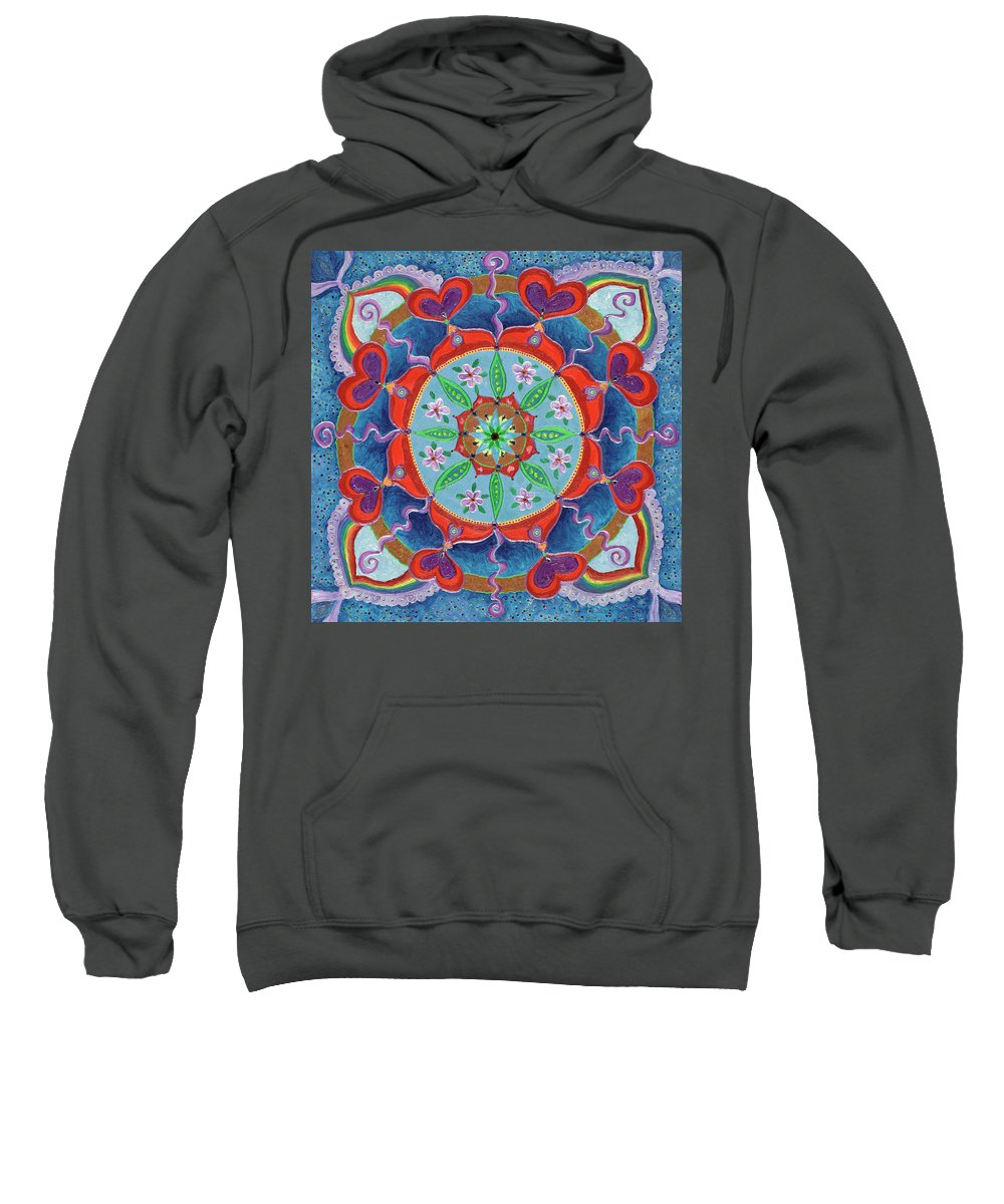 Mandala Sweatshirt featuring the painting The Seed Is Planted Creation by Kathleen Rausch