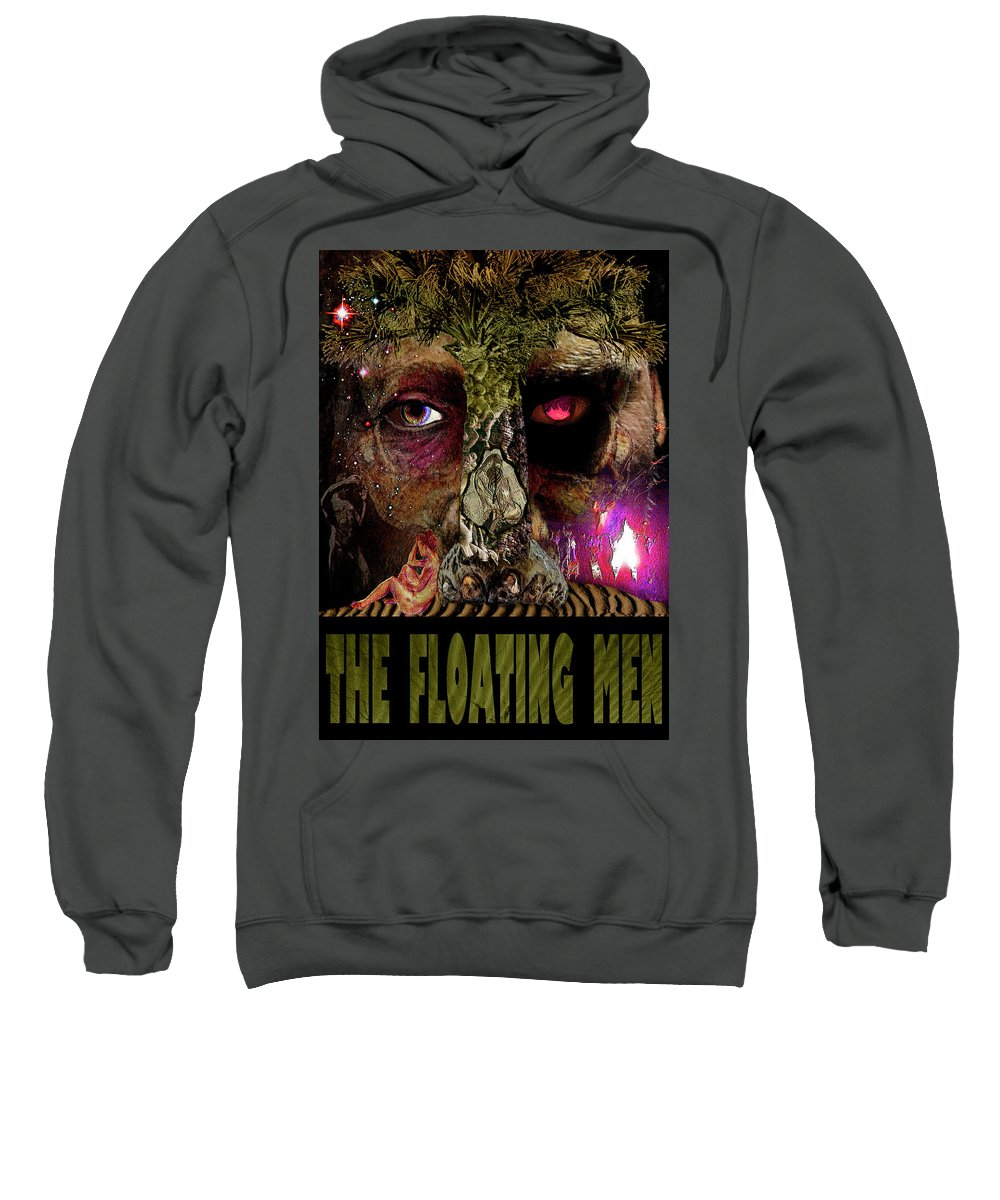 Jeff Holmes Sweatshirt featuring the mixed media The Sighing Hours - The Floating Men by Damon Steele