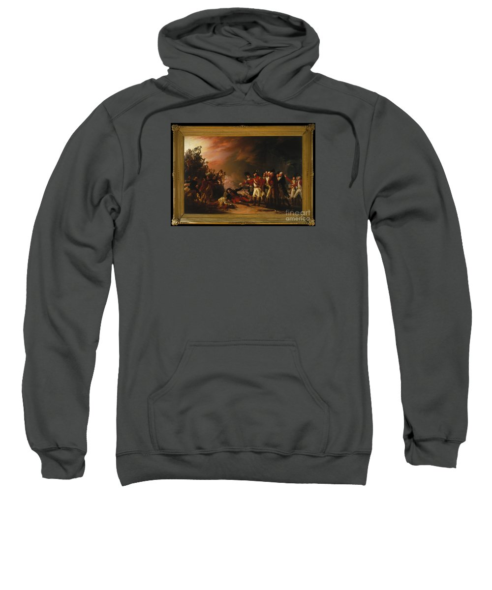 The Sortie Made By The Garrison Of Gibraltar Sweatshirt featuring the painting The Sortie Made By The Garrison Of Gibraltar by MotionAge Designs