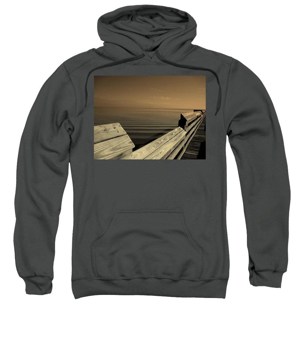 Pier Sweatshirt featuring the photograph The Spot by Susanne Van Hulst
