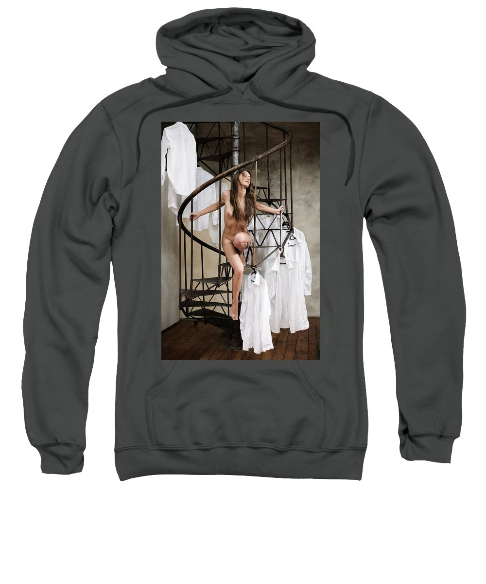 Sensual Sweatshirt featuring the photograph The Stairs by Olivier De Rycke