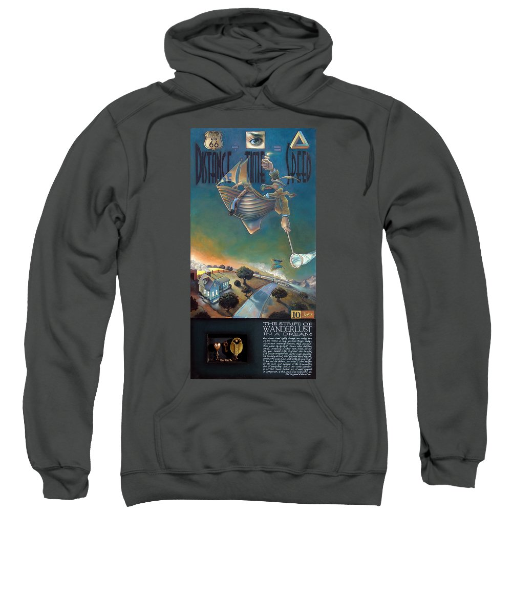 Boat Sweatshirt featuring the mixed media The Strife Of Wanderlust In A Dream by Patrick Anthony Pierson
