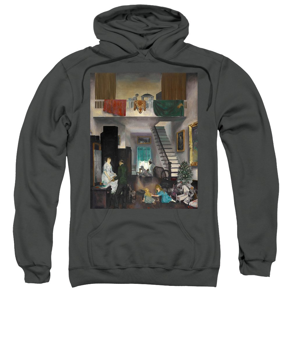 George Bellows Sweatshirt featuring the painting The Studio by George Bellows