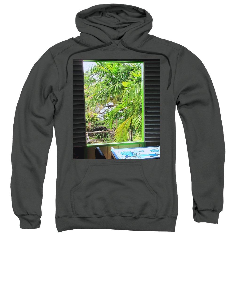 Window Sweatshirt featuring the photograph The Studio Window by Ian MacDonald