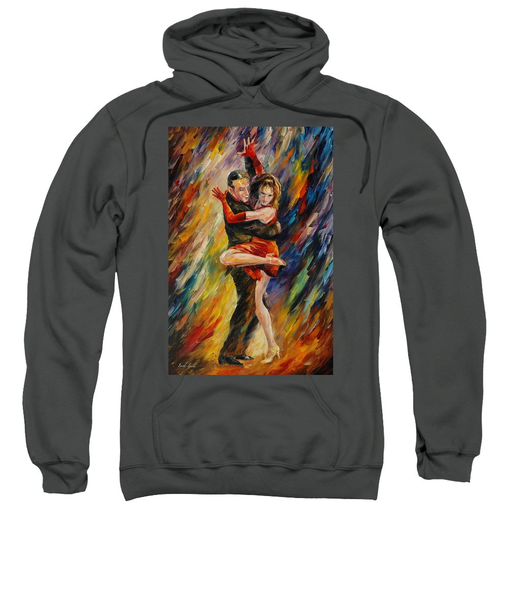 Dance Sweatshirt featuring the painting The Sublime Tango by Leonid Afremov