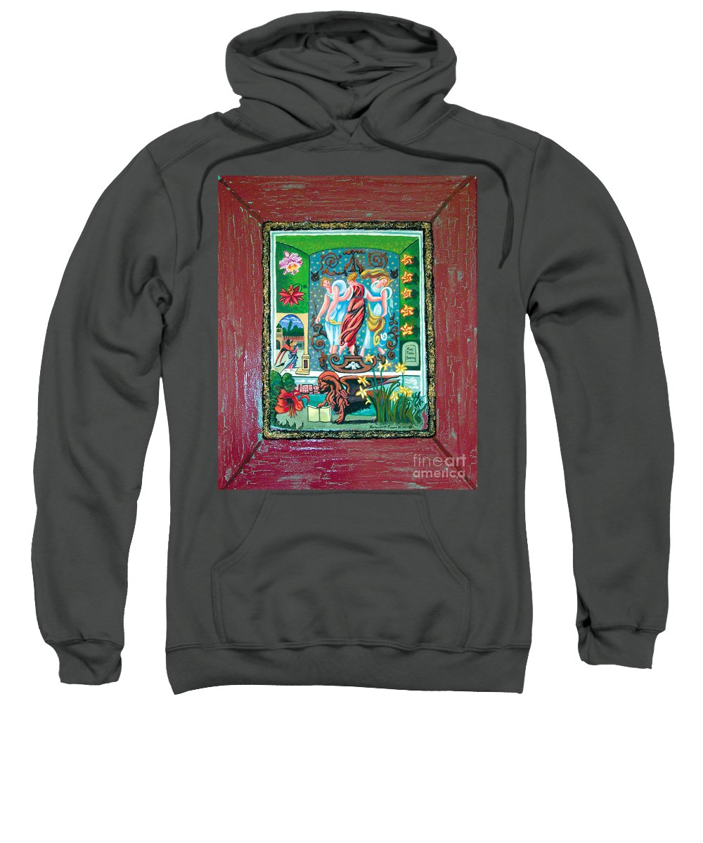 Women Sweatshirt featuring the painting The Three Sisters by Genevieve Esson