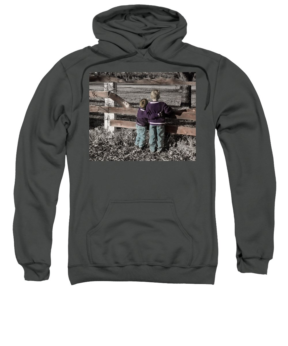 The Twelve Gifts Of Birth Sweatshirt featuring the photograph The Twelve Gifts Of Birth - Compassion 1 by Jill Reger