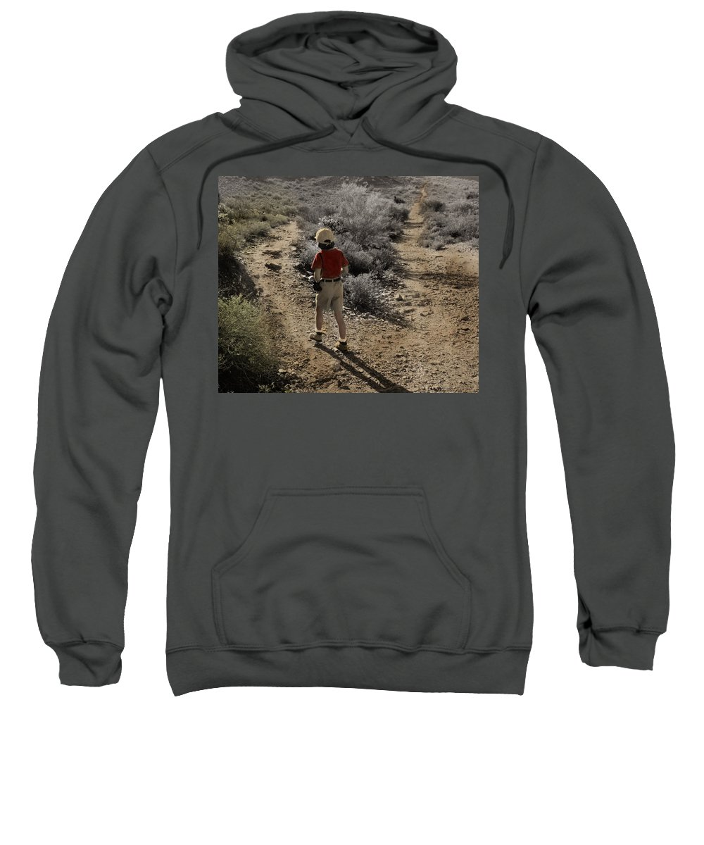 The Twelve Gifts Of Birth Sweatshirt featuring the photograph The Twelve Gifts Of Birth - Courage 1 by Jill Reger