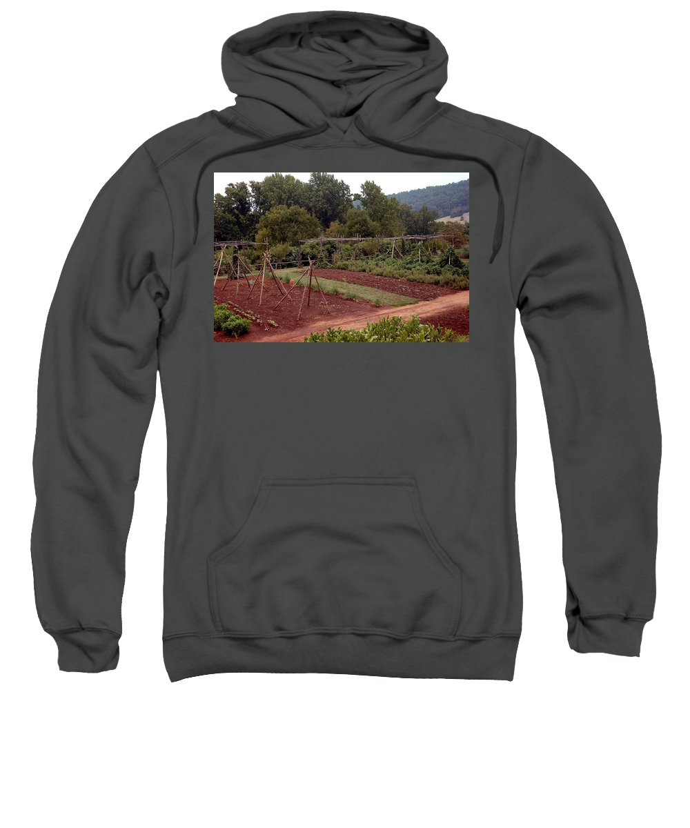 Usa Sweatshirt featuring the photograph The Vegetable Garden At Monticello II by LeeAnn McLaneGoetz McLaneGoetzStudioLLCcom