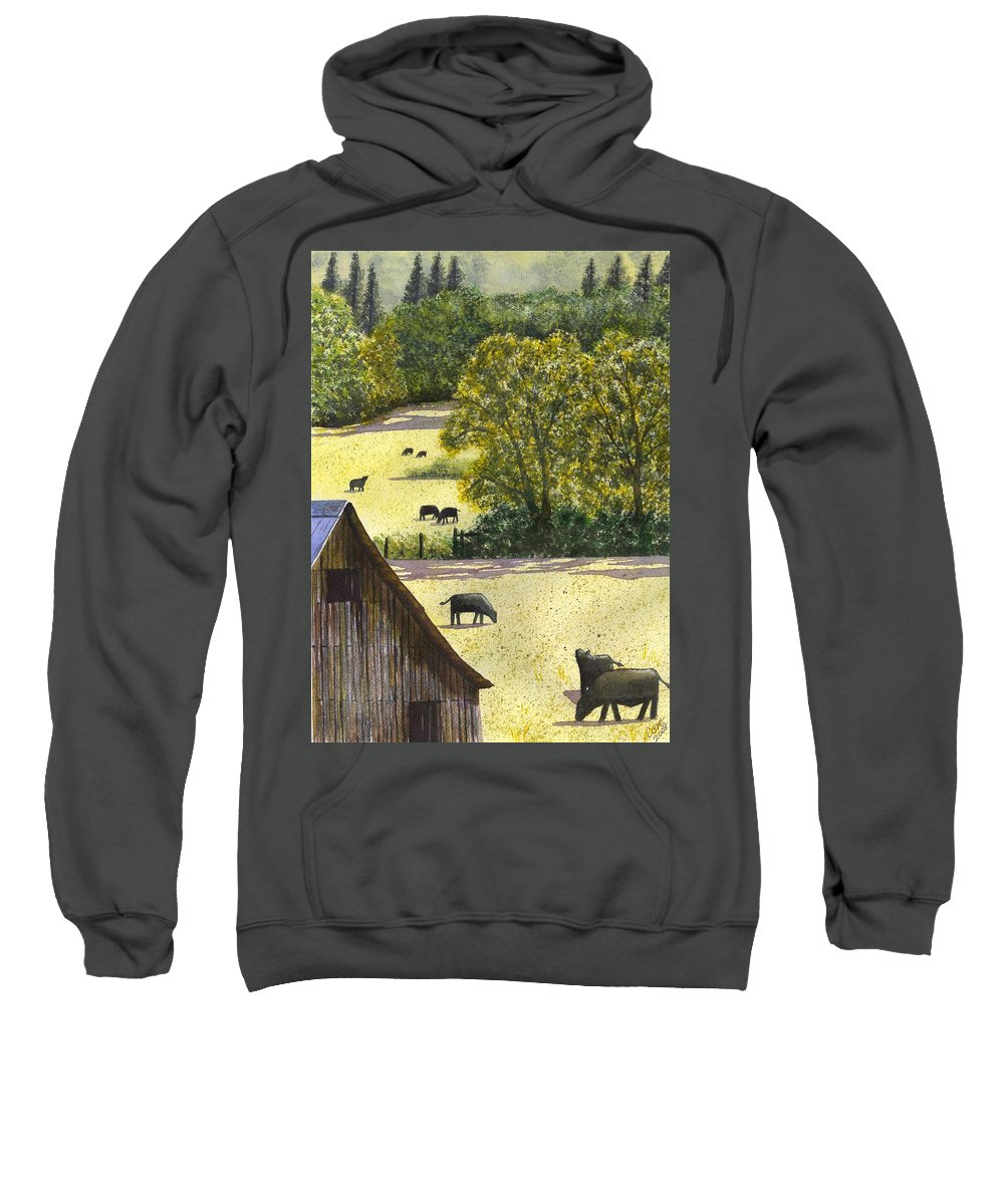 Landscape Sweatshirt featuring the painting The View From My Back Deck by Catherine G McElroy