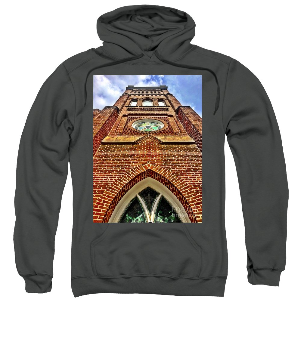 Churches Sweatshirt featuring the photograph The View To Heaven by Ally Lovensheimer