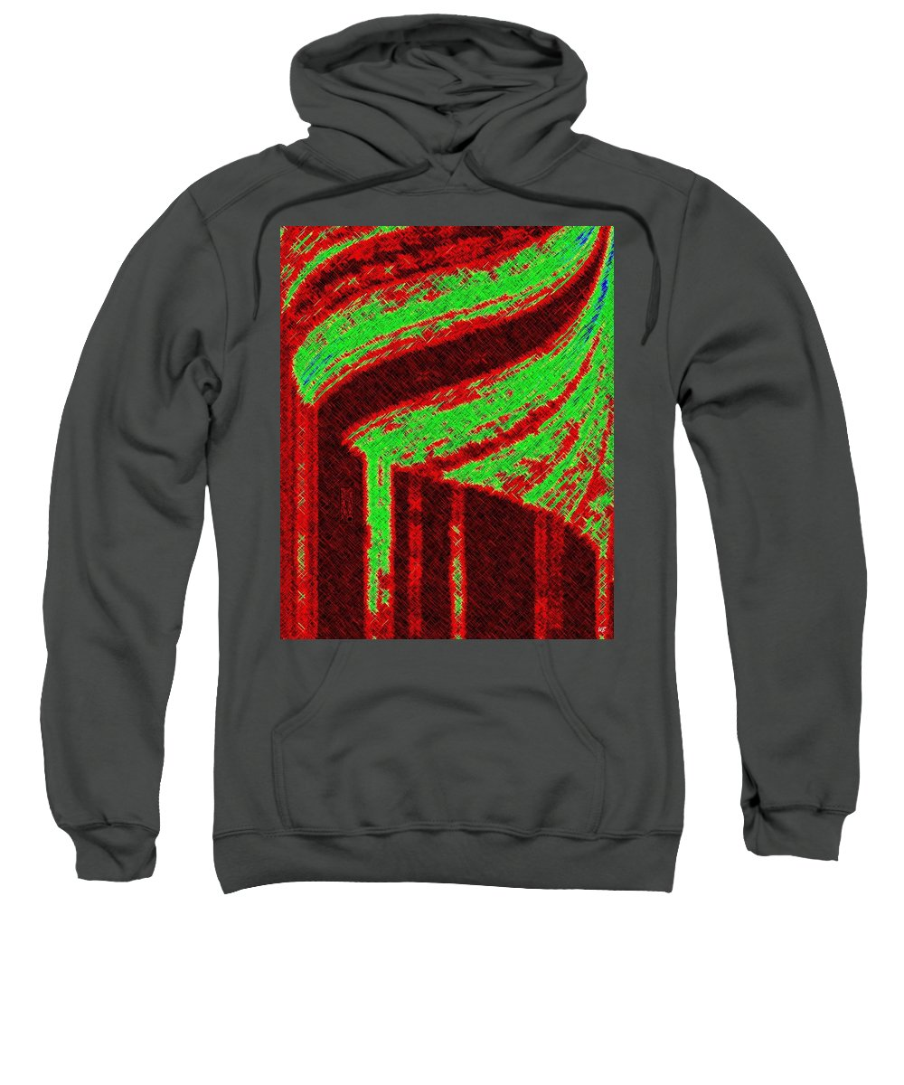 Abstract Sweatshirt featuring the digital art The Village by Will Borden