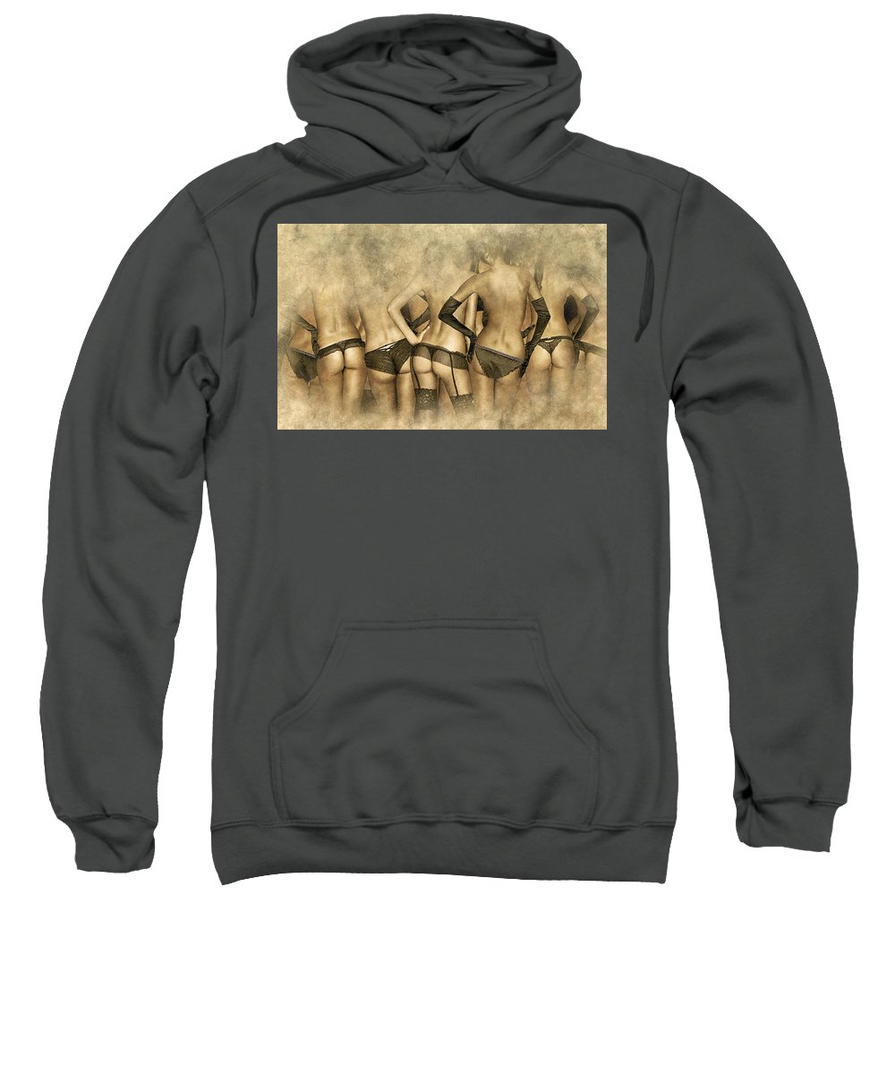 Home Art Sweatshirt featuring the digital art The Walking Dead by Don Kuing