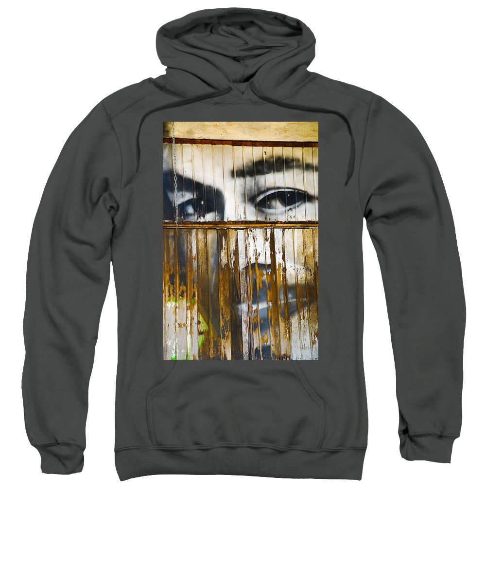 Escondido Sweatshirt featuring the photograph The Walls Have Eyes by Skip Hunt