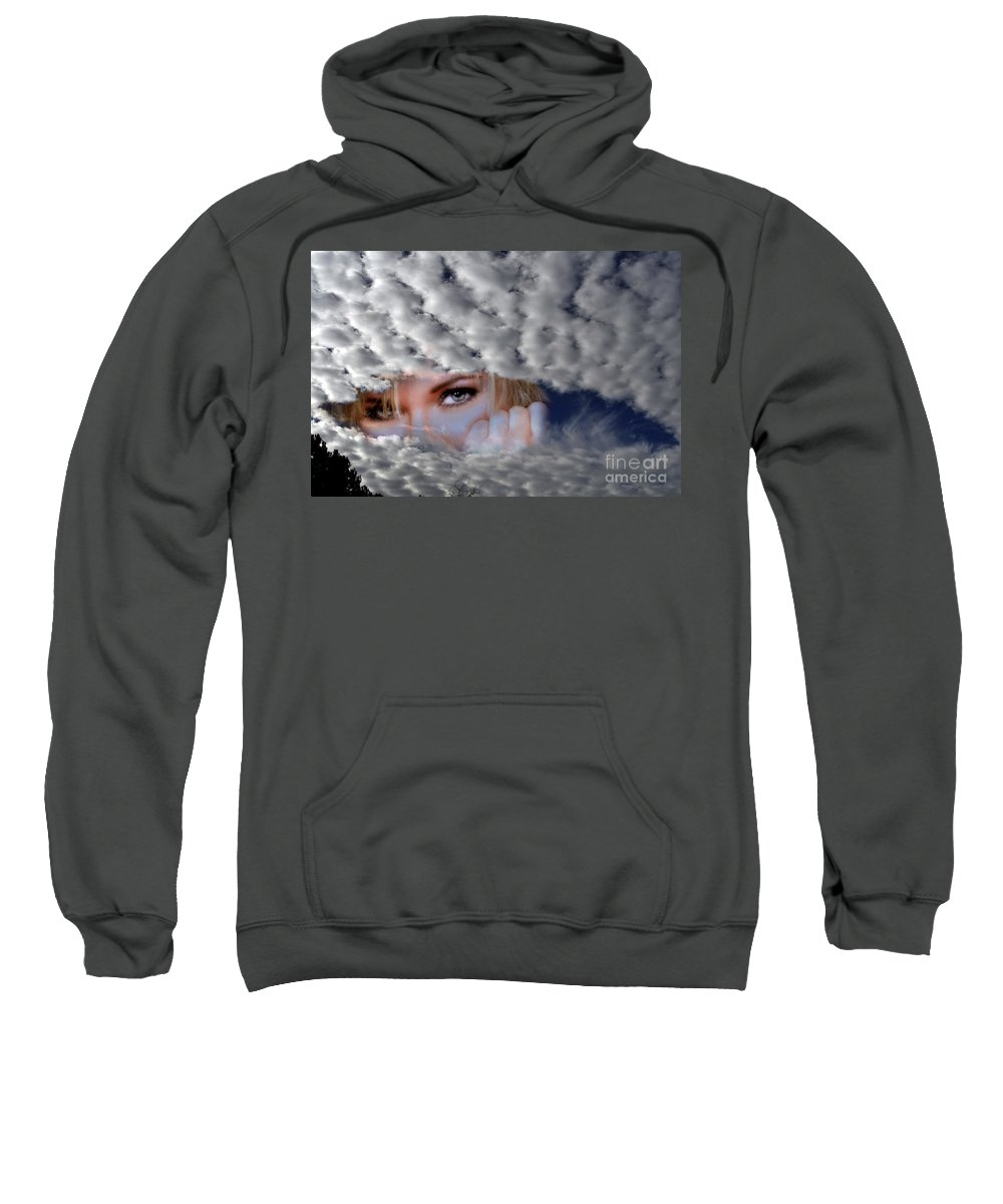 Clay Sweatshirt featuring the photograph The Watcher Above by Clayton Bruster