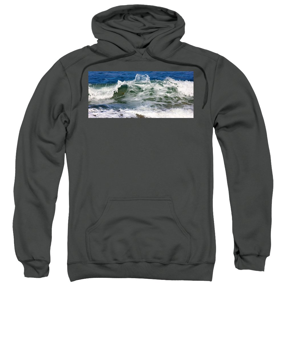 Ocean Sweatshirt featuring the photograph The Wave by Mesa Teresita