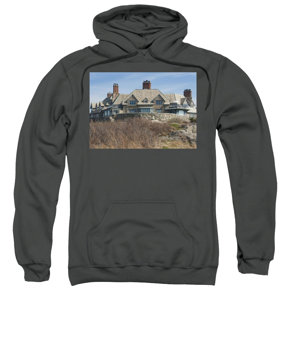 Newport Sweatshirt featuring the photograph The Waves by Steven Natanson