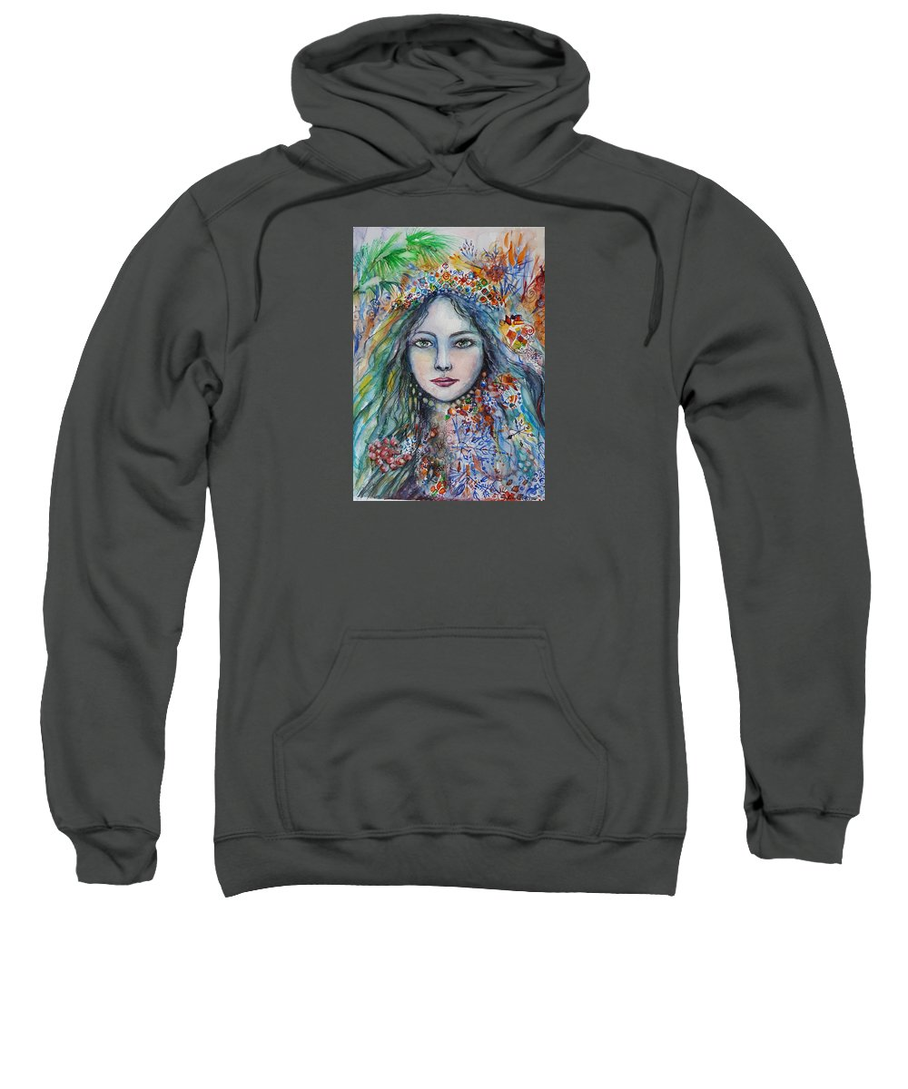 Winter Sweatshirt featuring the painting Wealth Of Winter by Rita Fetisov