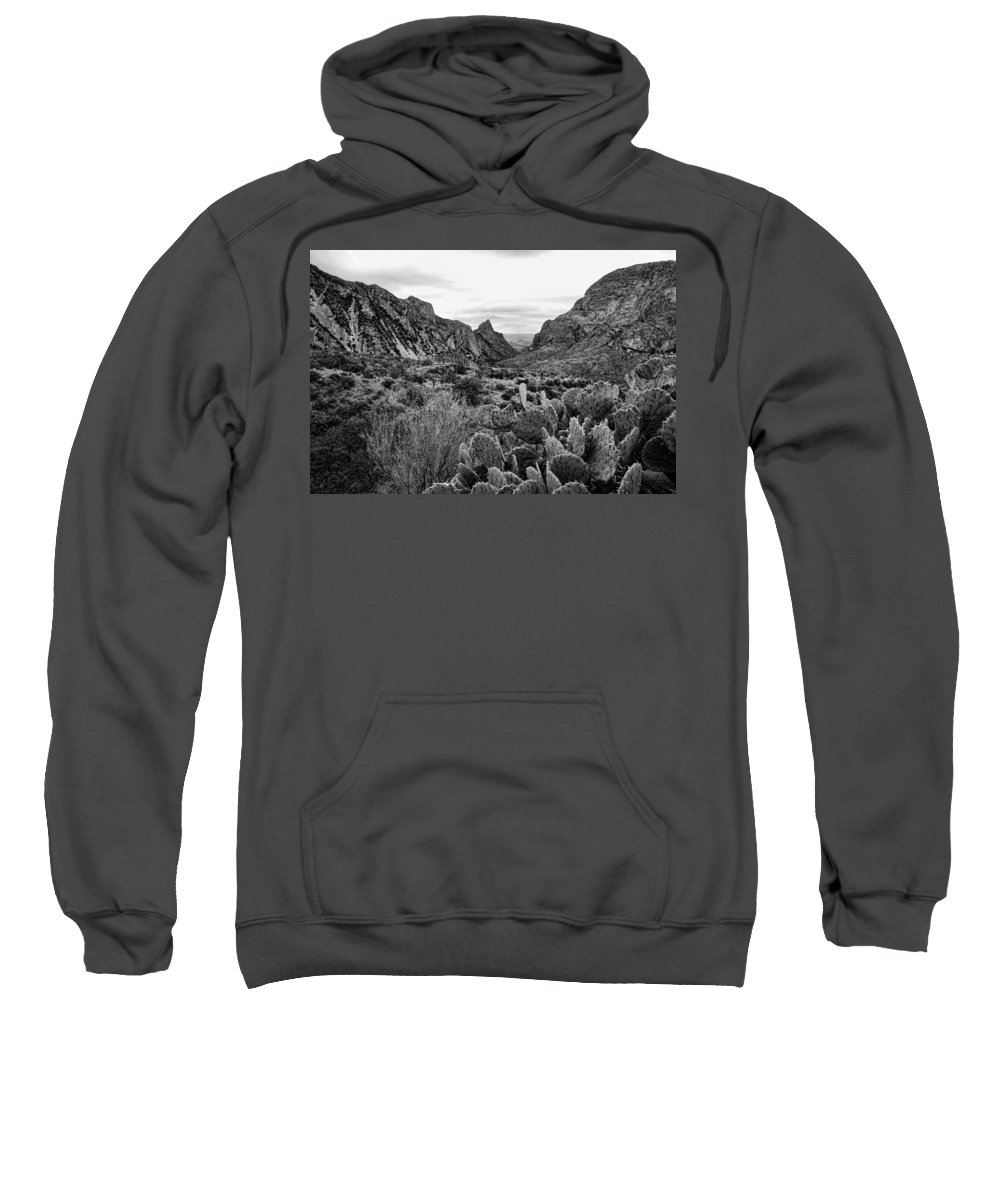Big Bend Sweatshirt featuring the photograph The Window 2 Black And White by Judy Vincent