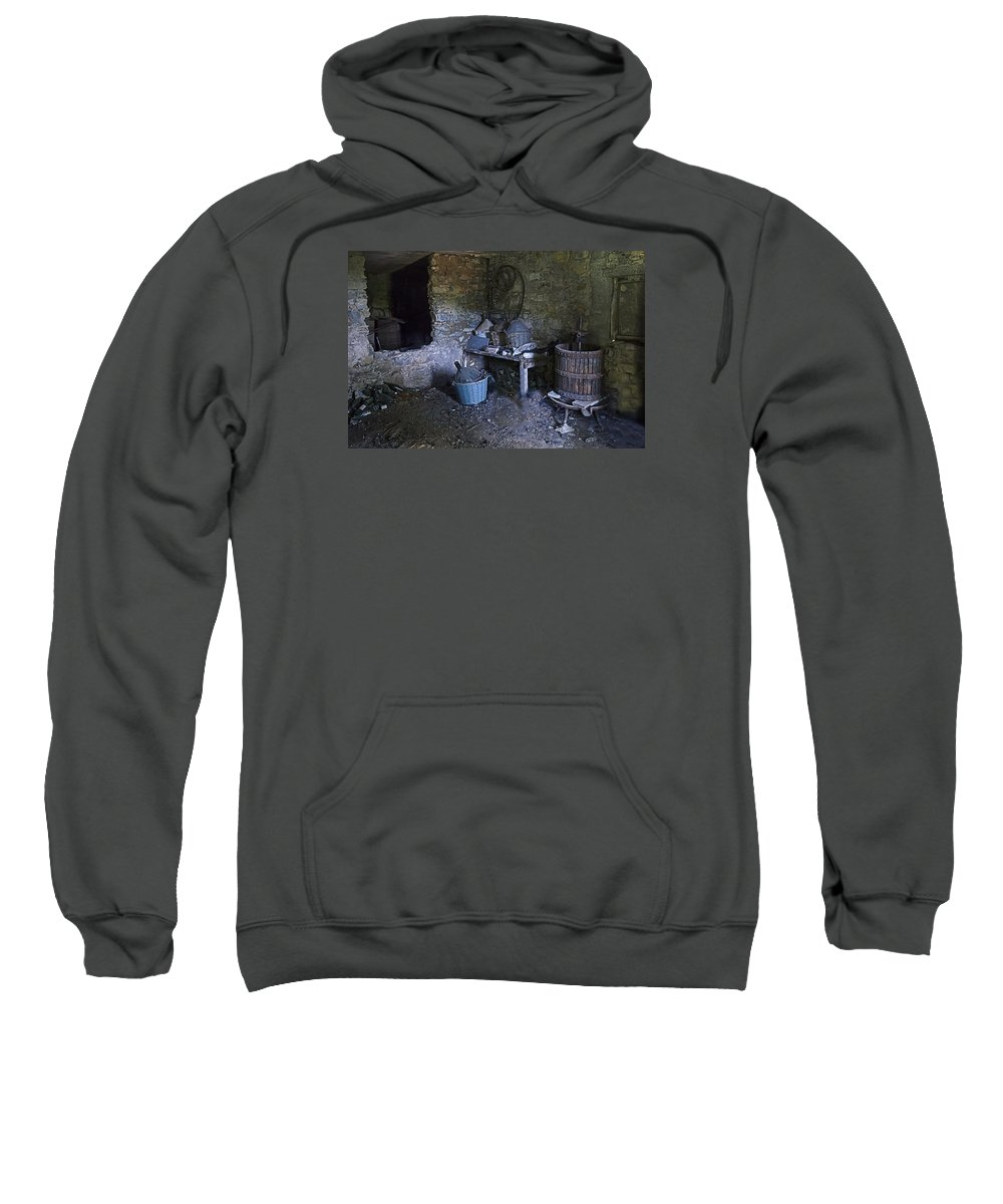 Architettura Sweatshirt featuring the photograph The Wine Cellar by Enrico Pelos