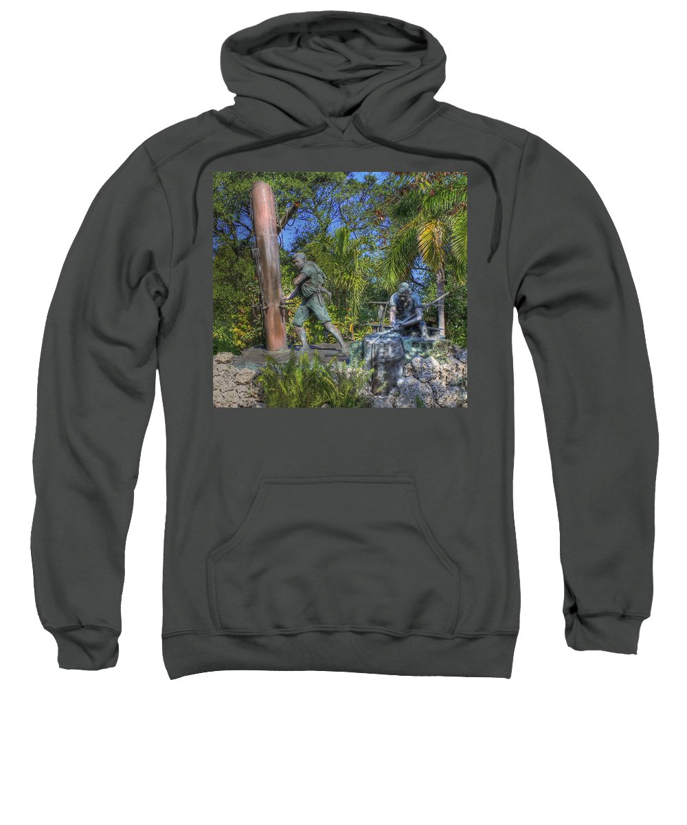 Key West Sweatshirt featuring the photograph The Wreckers by Shelley Neff