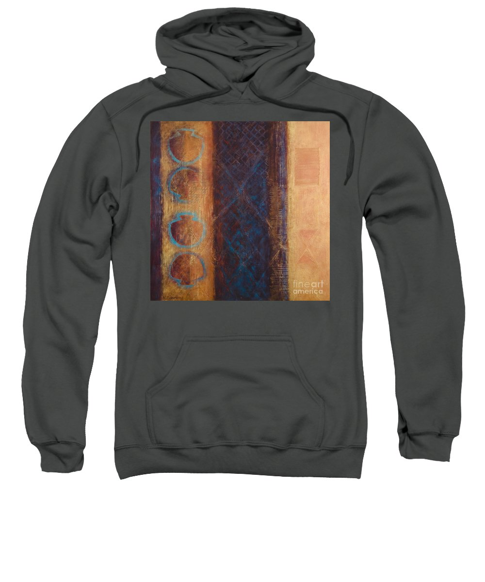 Abstract Sweatshirt featuring the painting The X Factor Alchemy Of Consciousness by Kerryn Madsen-Pietsch