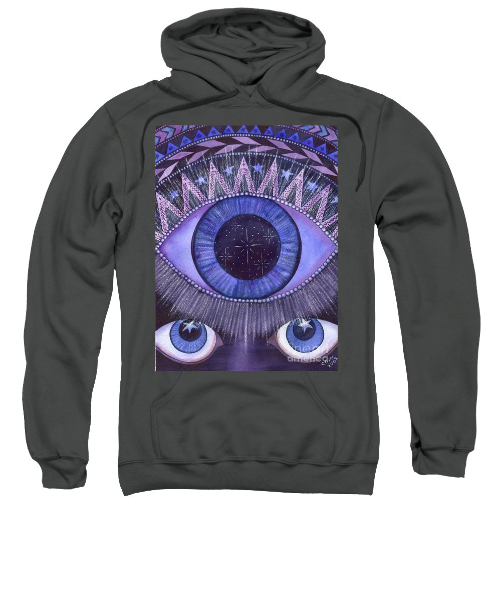 Thrid Eye Sweatshirt featuring the painting Third Eye Chakra by Catherine G McElroy