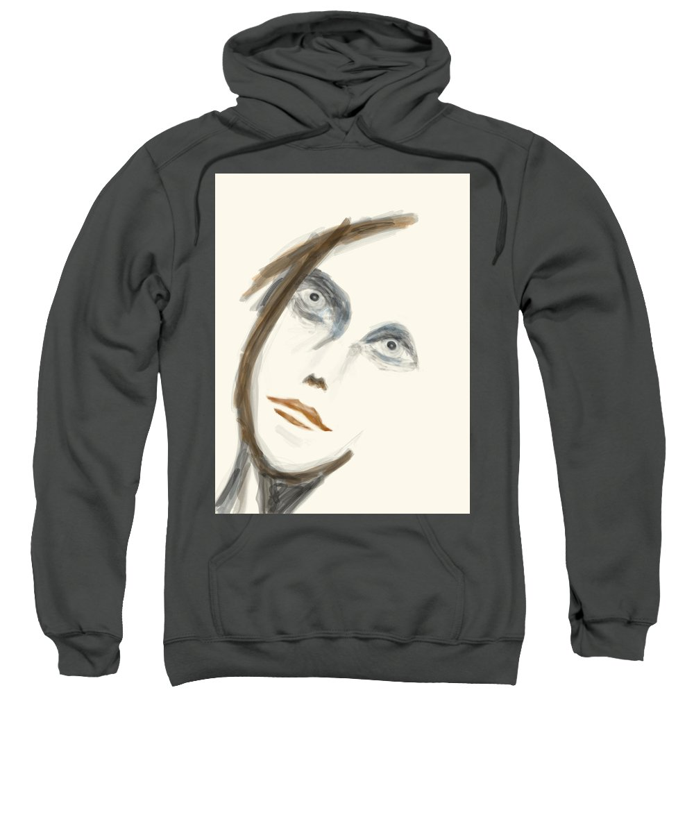 Apple Pencil Sweatshirt featuring the drawing This Is My Life by Bill Owen