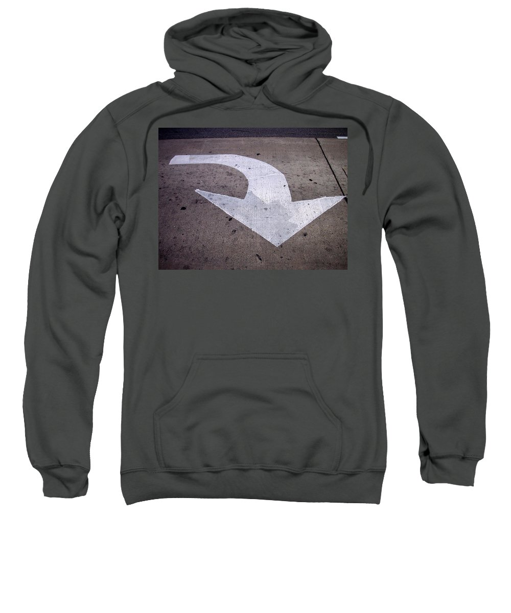 Street Sweatshirt featuring the photograph This Way by Anita Burgermeister