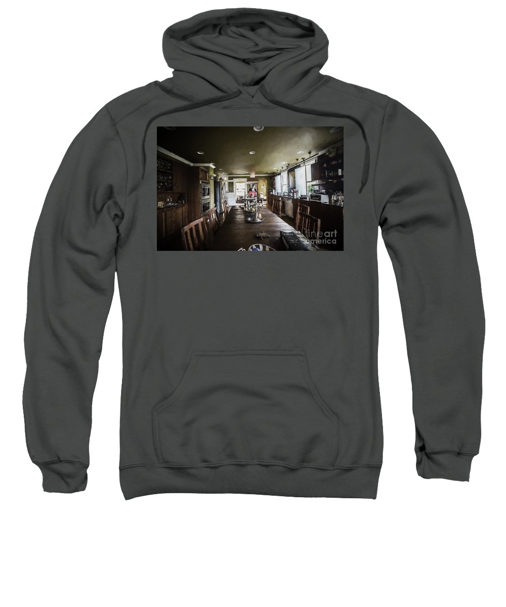 Architectural Interior Photography Sweatshirt featuring the photograph Thomas Kitchen In Artistic Version by Doug Berry
