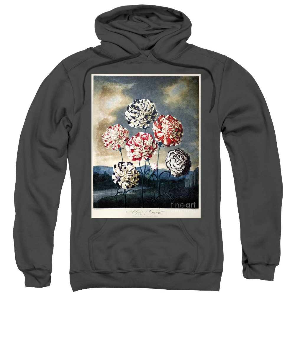 1803 Sweatshirt featuring the photograph Thornton: Carnations by Granger