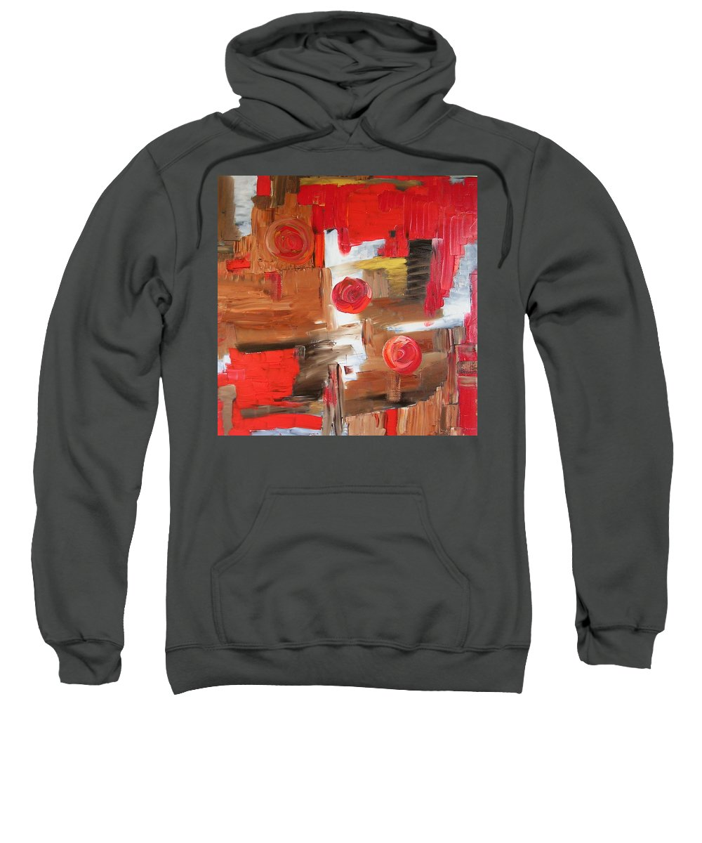 Moon Sweatshirt featuring the painting Three Moons by Dawn Hough Sebaugh