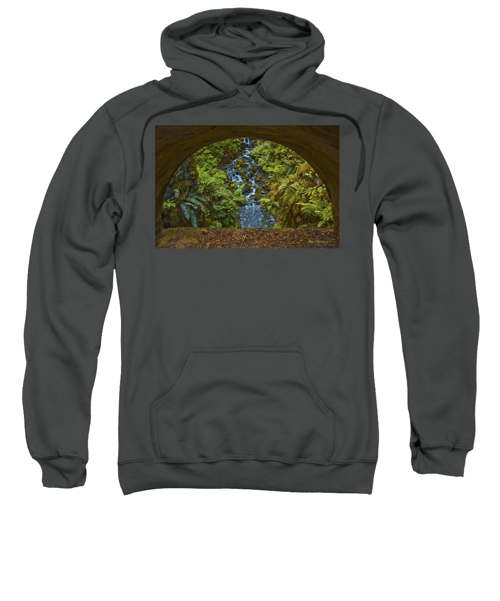 Landscape Sweatshirt featuring the photograph Through The Arch Signed by Hans Franchesco