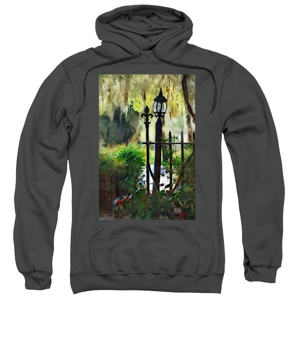 Gate Sweatshirt featuring the digital art Thru The Gate by Donna Bentley