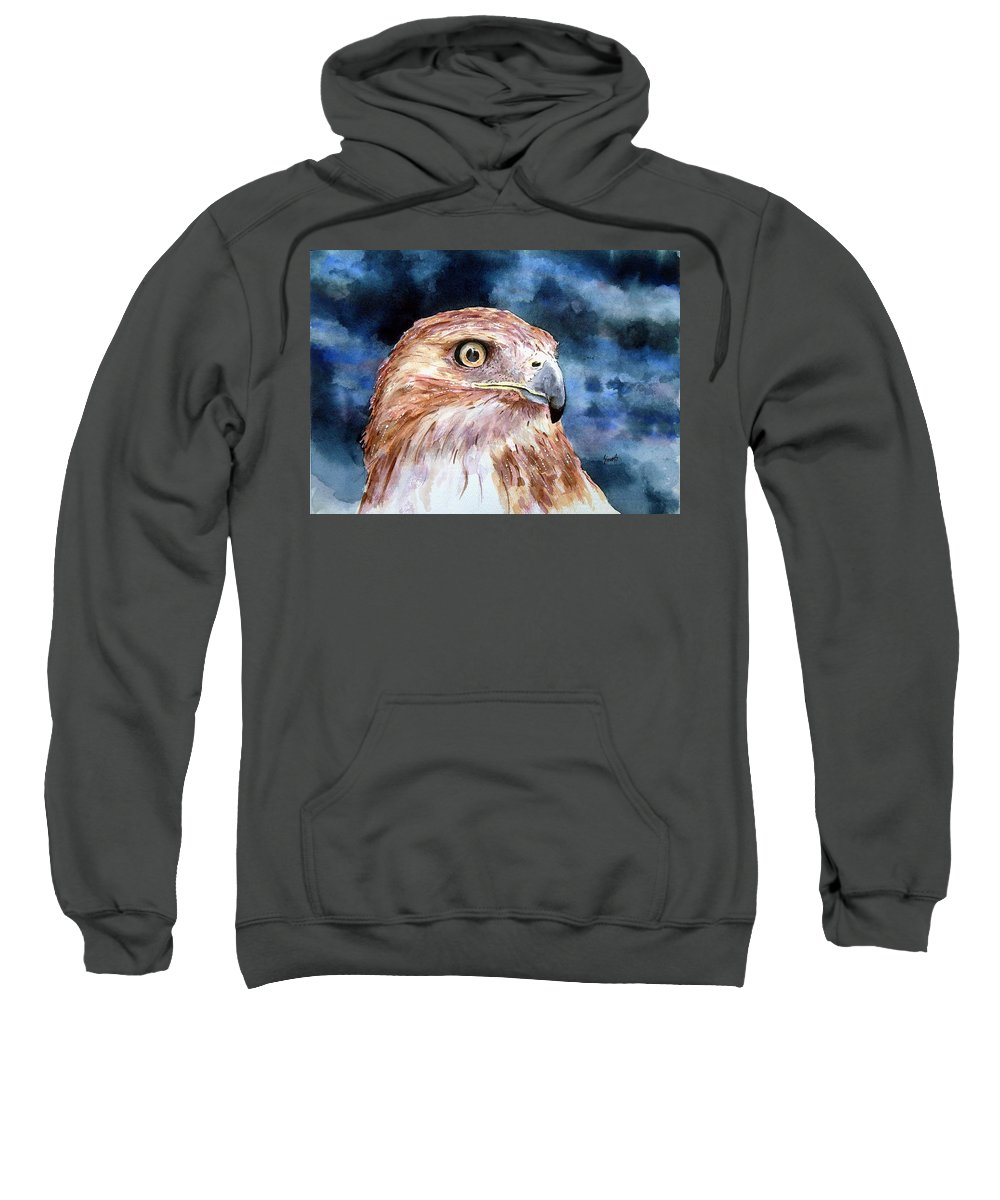 Bird Sweatshirt featuring the painting Thunder by Sam Sidders